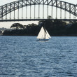 Sydney Harbour Bridge and boat. — Stock Photo