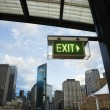 Exit sign, Sydney, Australia. — Stock Photo