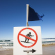 No surfing sign. — Stock Photo
