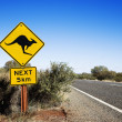 Kangaroo crossing Australia — Stock Photo #9279729