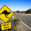 Stock Photo: Road sign Australia