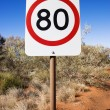 Australia speed limit sign - Stock Photo