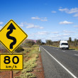 Australia road travel — Stock Photo