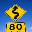 Regulation road sign - Stock Photo