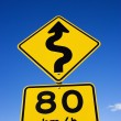 Stock Photo: Regulation road sign