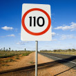 Speed limit sign - Stock Photo