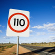 Stock Photo: Australispeed limit sign