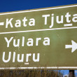 Road sign Kata Tjuta — Stock Photo
