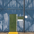Building with metal siding. — Stock Photo
