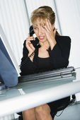 Frustrated businesswoman. — Stock Photo