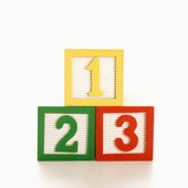 Numbered blocks. — Stock Photo