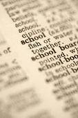 School in dictionary — Stock Photo