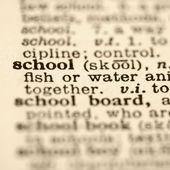 Definition of school. — Stock Photo