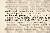 School year definition. — Stock Photo