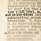 Education dictionary entry. — Stock Photo