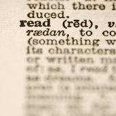 Definition of read. — Stock Photo