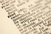 Dictionary entry for read. — Stock Photo