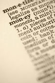 Money in dictionary. — Stock Photo