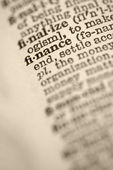 Finance in dictionary. — Stock Photo