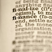 Definition of finance. — Stock Photo