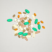 Pills and vitamins. — Stock Photo