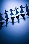 Girls holding hands — Stock Photo