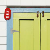 Colorful door detail. — Stock Photo