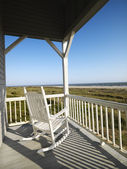 Porch at beach. — Stock Photo