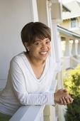 Woman smiling. — Stock Photo