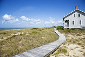 Beachfront house. — Stock Photo
