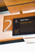 Ferry departure board. — Stock Photo