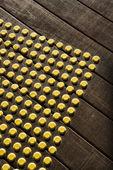Dot pattern on wood. — Stock Photo