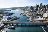 Darling harbour, australië. — Stockfoto