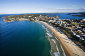 Beachfront property aerial. — Stock Photo