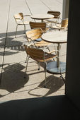 Outdoor seating. — Stock Photo