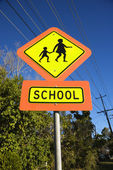 School crosswalk sign. — Stock Photo
