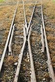 železniční nádavkem daleko způsoby — 图库照片
