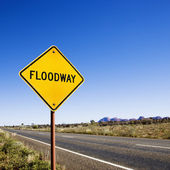 Rural floodway — Foto Stock