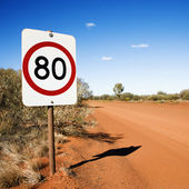 Kilometer speed limit sign — Stock Photo