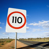 Australia speed limit sign — Stock Photo