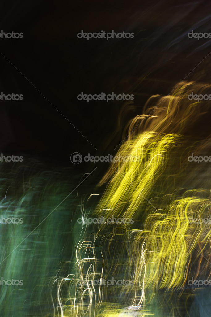 Motion blur of abstract lights.  Stock Photo #9278513