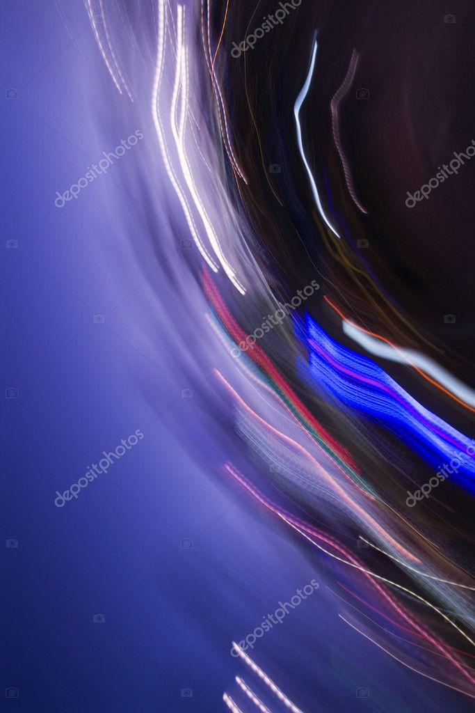 Abstract motion blur of lights. — Stock Photo #9278617