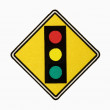 Stoplight sign. - Stock Photo