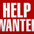 Stock Photo: Help wanted sign.