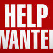 Help wanted sign. — Stock Photo #9299962
