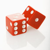 Red dice. — Stock Photo