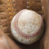 Baseball in glove. — Stock Photo