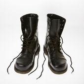 Combat boots. — Stock Photo