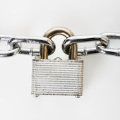Padlock with chains. — Stock Photo