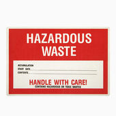Hazardous waste sign. — Stock Photo